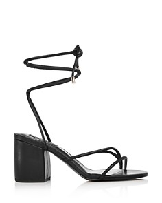 AQUA - Women's Kate Ankle Strap Block Heel Sandals - 100% Exclusive
